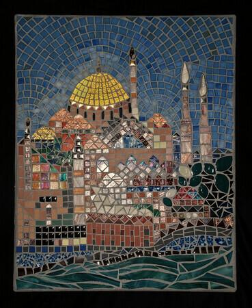 Hagia sophia 16 x 24 glass moon mosaics for 16 x 24 window